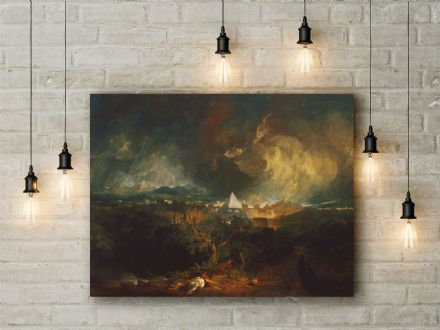 J.M.W Turner: The Fifth Plague of Egypt. Fine Art Canvas.